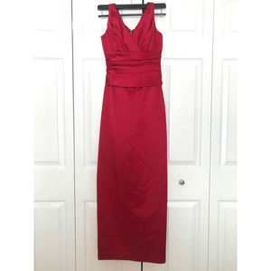 David's Bridal Red Dress Size 2